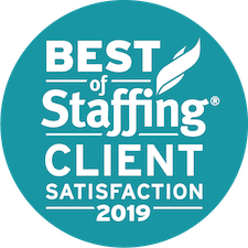 Accounting Now earned 2019 Best of Staffing Client for providing superior service in the Staffing industry