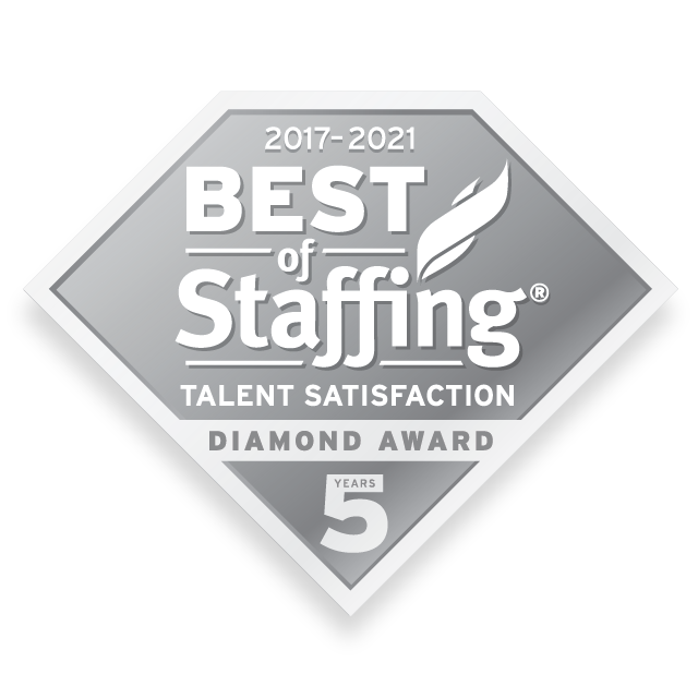 Medix earned 2021 Best of Staffing Talent Diamond for providing superior service in the Staffing industry