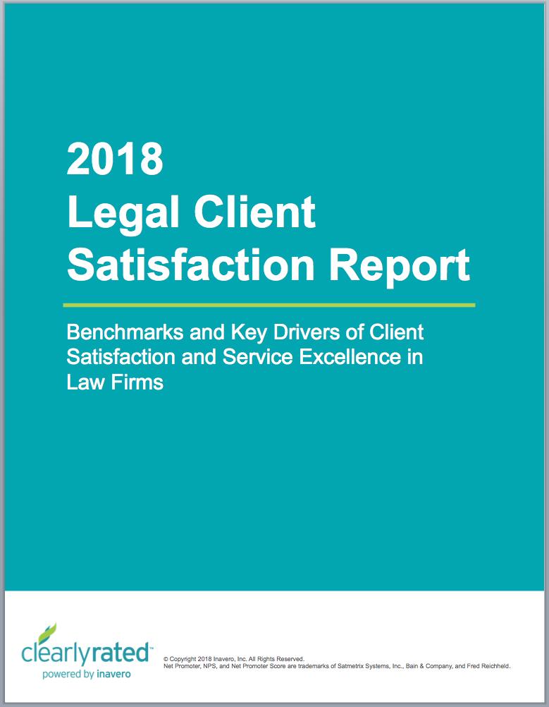 2018 Legal Client Satisfaction Report