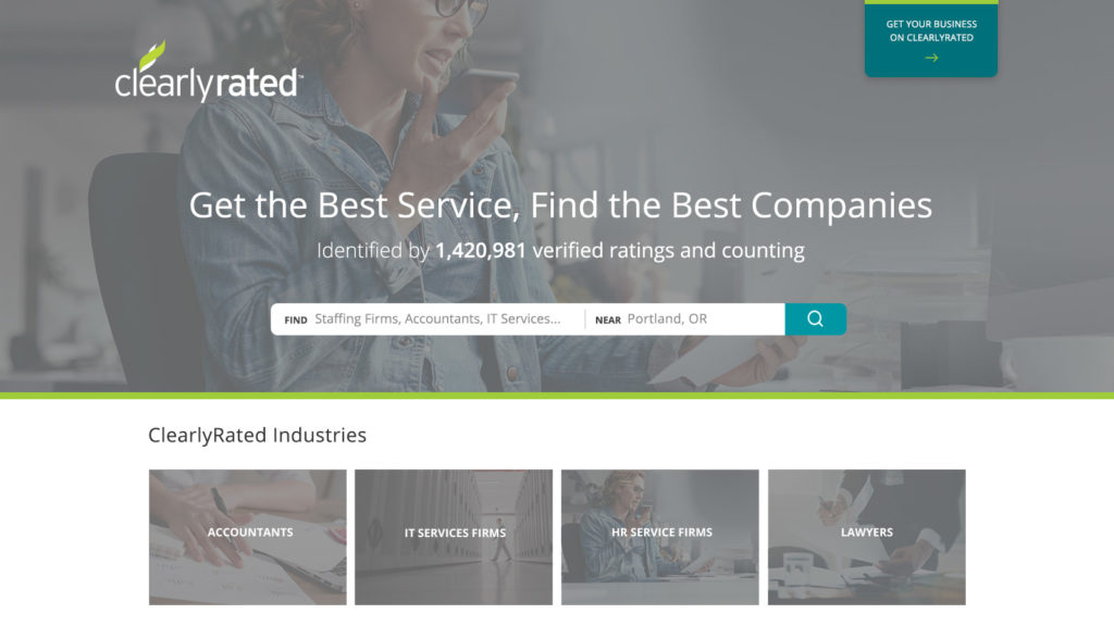 ClearlyRated.com - the first-ever online business directory that allows you to search for business service providers based on validated client ratings and testimonials