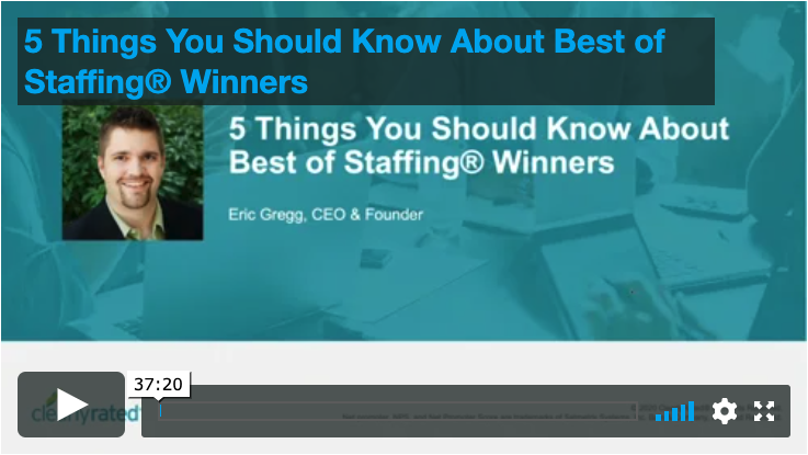 3.5.20 5 Things About Best of Staffing Winners