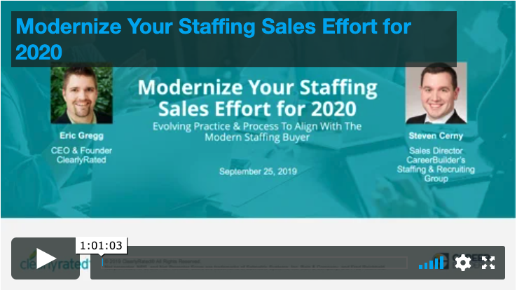 9.25.19 Modernize Your Staffing Sales Effort for 2020