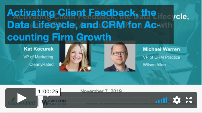11.7.19 Activating Client Feedback, the Data Lifecycle, and CRM for Accounting Firm Growth
