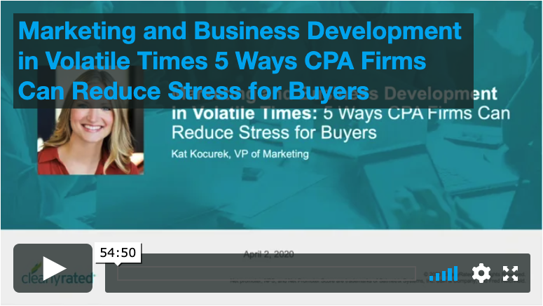4.2.20 Marketing and Business Development in Volitile Times: 5 Ways CPAs Firms Can Reduce Stress